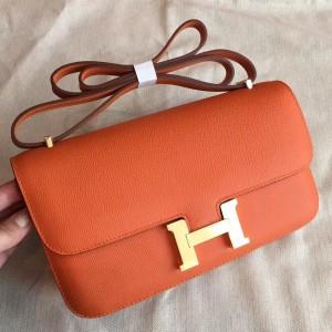 Hermes Orange Epsom Constance Elan 25cm Bag