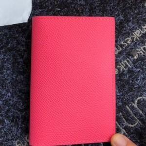 Hermes MC² Euclide Card Holder In Rose Lipstick Epsom Leather