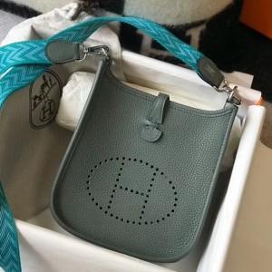 Hermes Evelyne III TPM Bag In Vert Amande Clemence Leather