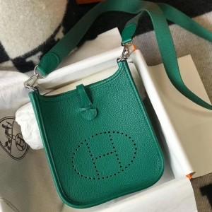 Hermes Evelyne III TPM Bag In Vert Vertigo Clemence Leather