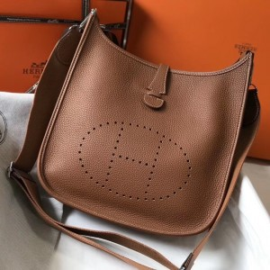 Hermes Evelyne III 29 Bag In Gold Clemence Leather