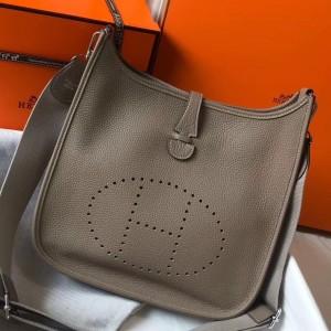 Hermes Evelyne III 29 Bag In Tourterelle Clemence Leather