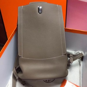 Hermes GR24 Backpack In Taupe Everycolor Calfskin