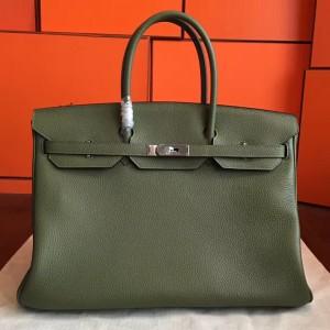 Hermes Canopee Clemence Birkin 40cm Handmade Bag