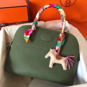 Hermes Canopee Clemence Bolide 31cm Handmade Bag