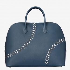 Hermes Blue Malte Bolide 1923 45 Baseball Bag
