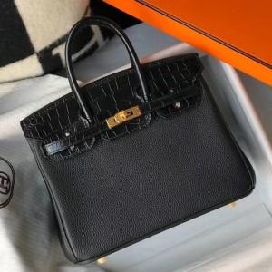 Hermes Touch Birkin 25cm Limited Edition Black Bag