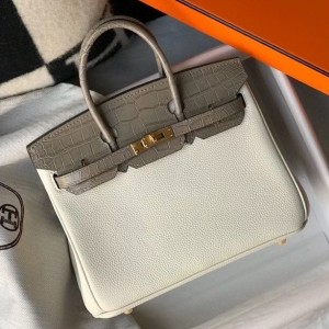 Hermes Touch Birkin 25cm Limited Edition White Bag