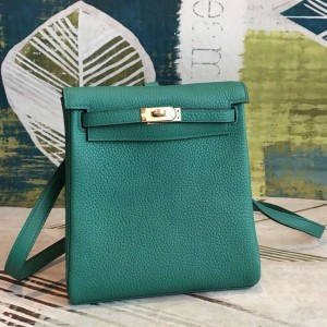 Hermes Malachite Clemence Kelly Ado PM Backpack