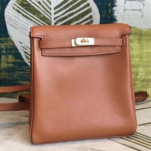 Hermes Gold Swift Kelly Ado PM Backpack