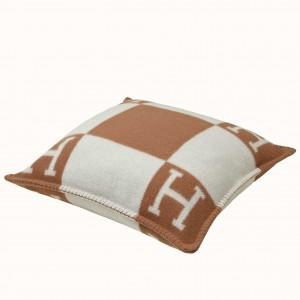 Hermes Camel Small Avalon Pillow