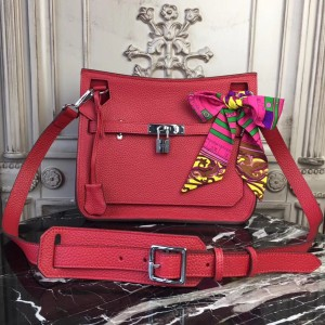 Hermes Red Clemence Jypsiere 28cm Bag