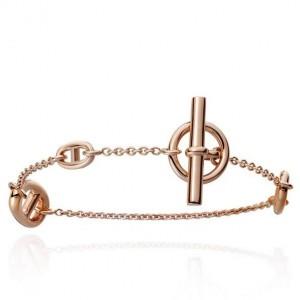 Hermes LG Rose Gold Farandole Bracelet