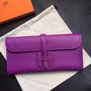 Hermes Cyclamen Epsom Jige Elan 29 Clutch Bag