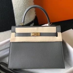 Hermes Ardoise Epsom Kelly 25cm Sellier Bag GHW
