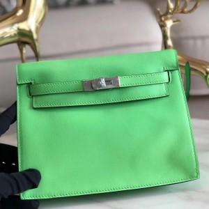 Hermes Green Swift Kelly Danse Bag