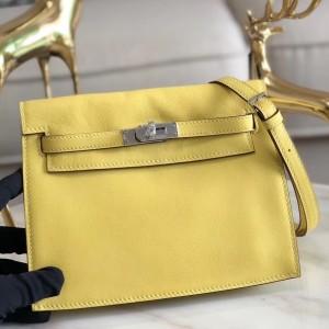 Hermes Jaune Swift Kelly Danse Bag