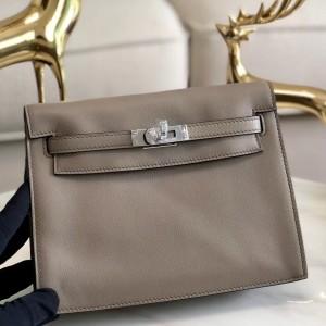 Hermes Grey Swift Kelly Danse Bag