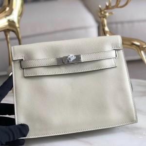 Hermes White Swift Kelly Danse Bag