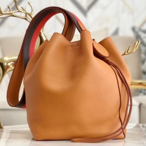 Hermes Licol 17cm Bag In Tan Evercolor Calfskin