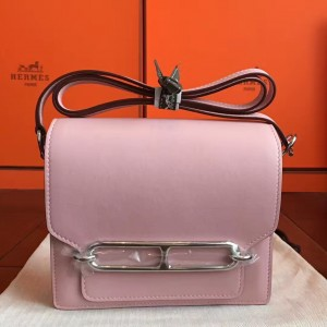 Hermes Mini Sac Roulis Bag In Rose Dragee Swift Leather