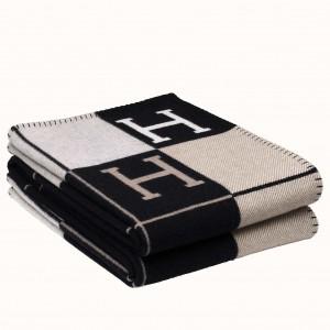 Hermes Black Avalon III Throw Blanket