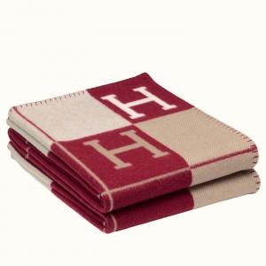 Hermes Red Avalon III Throw Blanket