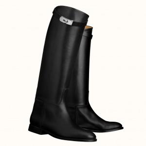 Hermes Jumping Boots In Black Calfskin