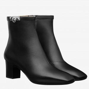 Hermes Black Calfskin Power Low Boot