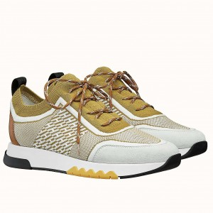 Hermes Addict Sneakers In Multicolore Knit