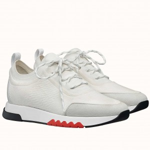 Hermes Addict Sneakers In White Knit