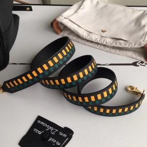Hermes Black Tressage Cuir 25 MM Bag Strap