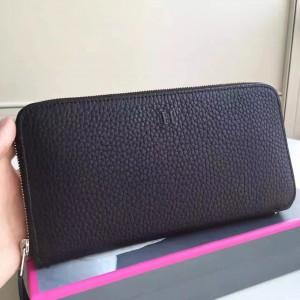 Hermes Black Clemence Azap Zipped Wallet