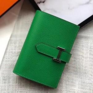 Hermes Bearn Mini Wallet In Bamboo Epsom Leather