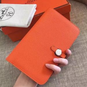 Hermes Orange Dogon Duo Combined Wallet