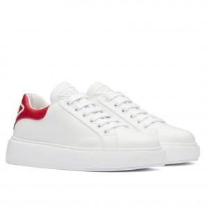 Prada Women's Sneakers With Red Triangle Logo Heel