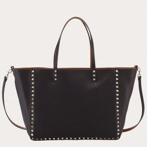 Valentino Noir Rockstud Medium Reversible Tote Bag