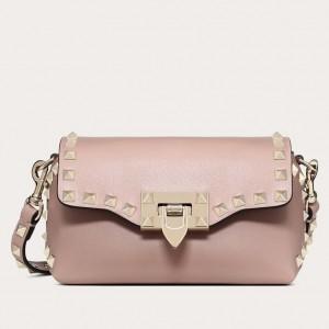 Valentino Mini Rockstud Crossbody Bag In Poudre Calfskin