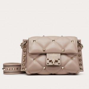 Valentino Mini Candystud Crossbody Bag In Poudre Lambskin