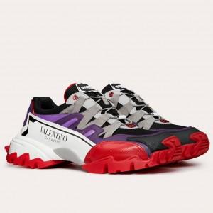Valentino Garavani Men's Purple/Red Climbers Sneakers