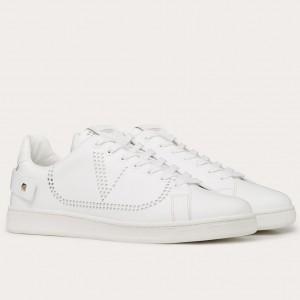 Valentino Men's Backnet VLOGO Sneakers With White Heel