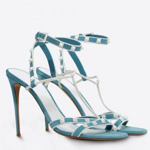Valentino Garavani Blue Free Rockstud 105mm Sandals