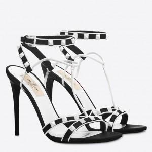 Valentino Garavani Black Free Rockstud 105mm Sandals