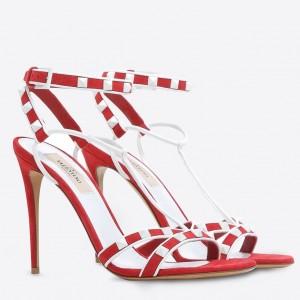 Valentino Garavani Red Free Rockstud 105mm Sandals