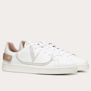 Valentino Women's Backnet Sneakers With Poudre Heel