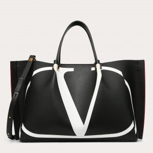 Valentino Vlogo Escape Medium Shopper With Inlay Detail