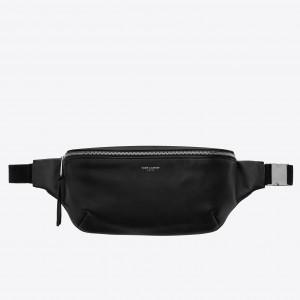 Saint Laurent Classic Belt Bag In Soft Black Leather