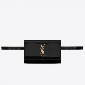 Saint Laurent Black Patent Kate Belt Bag