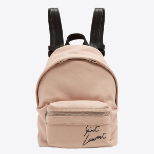 Saint Laurent Nude Mini Toy City Embroidered Backpack