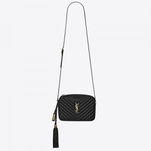 Saint Laurent Lou Camera Bag In Black Leather